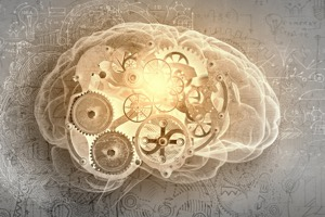 brain with gears